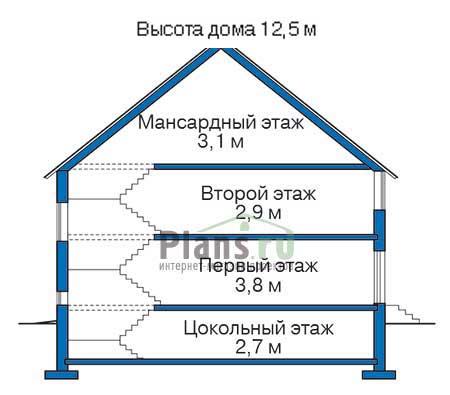Высота этажей :: Проект 34-67