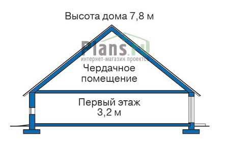 Высота этажей в проекте дома из кирпича 34-74