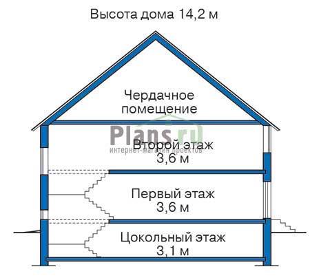 Высота этажей :: Проект 34-80