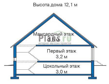 Высота этажей :: Проект 35-19