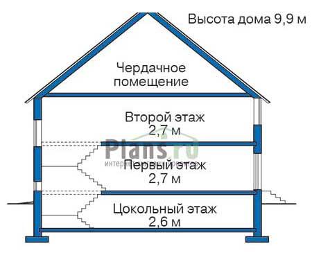 Высота этажей :: Проект 35-20