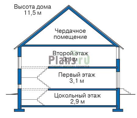 Высота этажей :: Проект 35-55