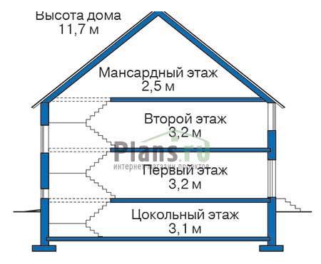 Высота этажей :: Проект 35-80