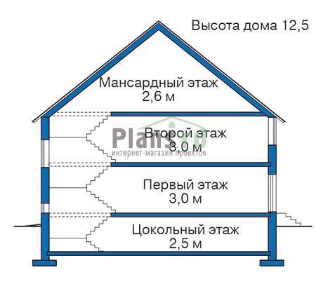 Высота этажей :: Проект 35-90