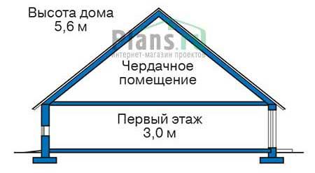 Высота этажей в проекте дома из кирпича 37-90