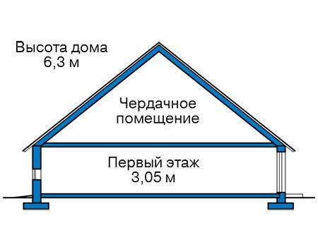 Высота этажей в проекте дома из кирпича 41-45