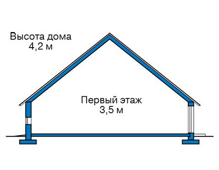 Высота этажей в проекте дома из кирпича 42-40