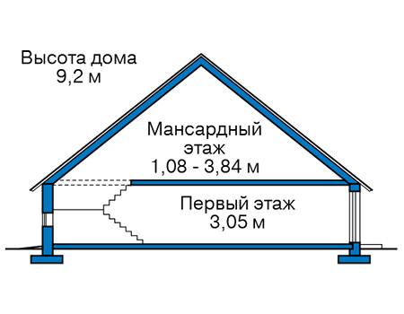 Высота этажей в проекте дома из кирпича 42-68