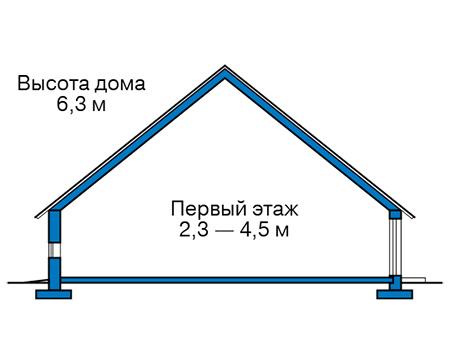 Высота этажей в проекте дома из кирпича 43-66