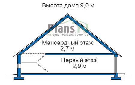 Высота этажей в проекте дома из кирпича 71-24