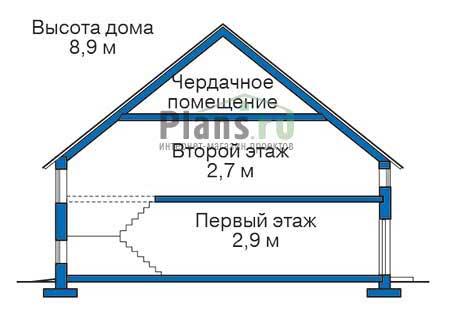 Высота этажей в проекте дома из кирпича 71-27