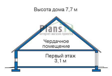 Высота этажей в проекте дома из кирпича 71-55