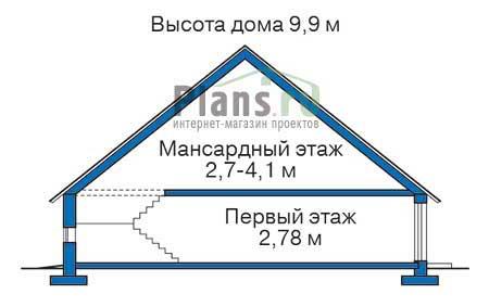 Высота этажей в проекте дома из кирпича 71-56