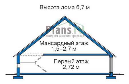 Высота этажей в проекте дома из кирпича 72-06