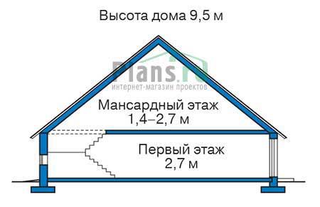 Высота этажей в проекте дома из кирпича 72-61