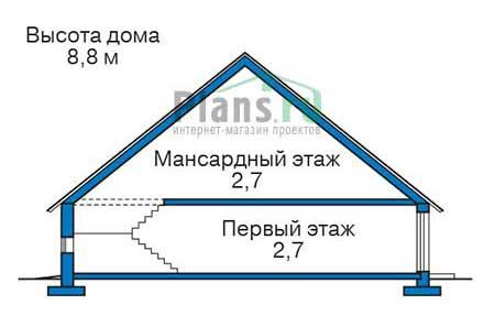 Высота этажей в проекте дома из кирпича 73-10