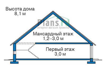 Высота этажей в проекте дома из кирпича 73-28