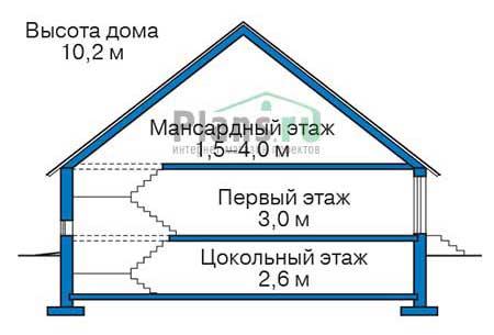 Высота этажей :: Проект 73-66