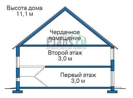 Высота этажей :: Проект 73-68