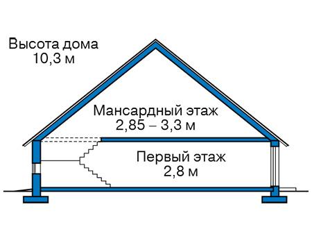Высота этажей в проекте дома из кирпича 73-78