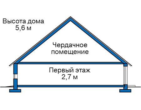 Высота этажей в проекте дома из кирпича 74-27