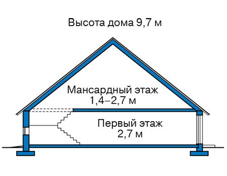 Высота этажей в проекте каркасного дома 90-40